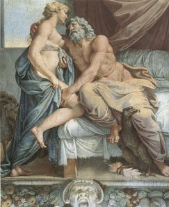 Annibale Carracci, Jupiter y Juno, 1597