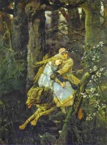 Víctor Vasnetsov, Iván montando el Lobo Gris