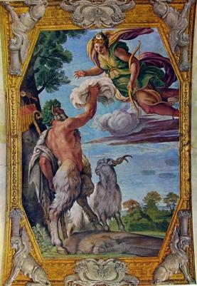 Annibale Carraci, Pan y Diana, ca.1600