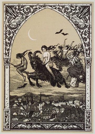 Bernard Zuber, Brujas volando al Sabbath, ca. 1926