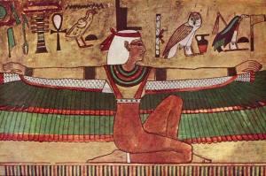 La diosa Isis, pintura mural, ca. 1360 a.n.e