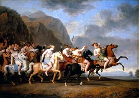 J. Heinrich Wilhelm Tischbein, Amazonas salen a caballo, 1788