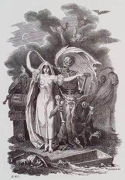 E.H. Langlois, Seductive Death, 1852