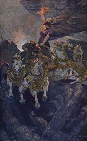 Merodach se prepara para atacar a Tiamat, E. Wallcousins, 1915
