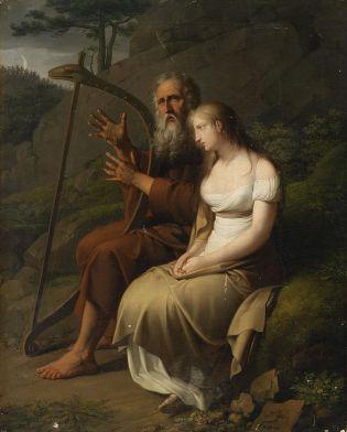 Ossian y Malvina, Johann Peter Krafft, 1810