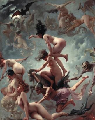 Brujas yendo al Sabbath, Luis Ricardo Falero, 1878