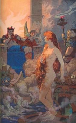 Ishtar en el Inframundo, E. Wallcousins, 1915