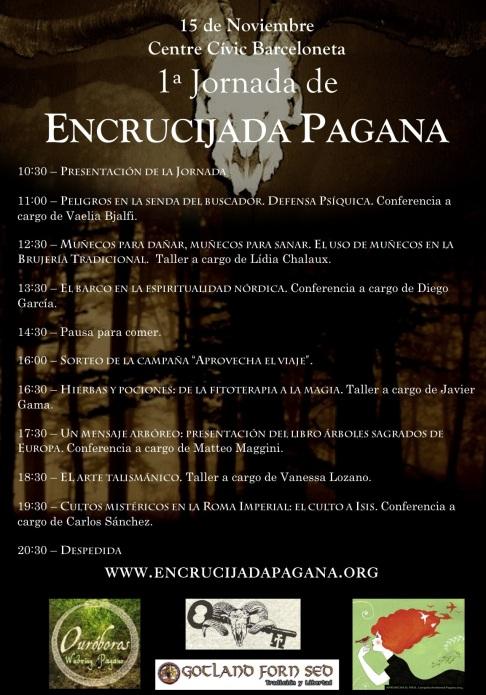 Programa de la 1ª Jornada de Encrucijada Pagana