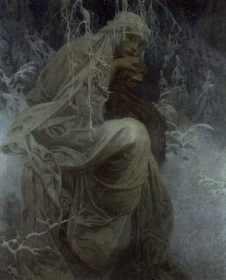 Alphonse Mucha, A winter tale, sf