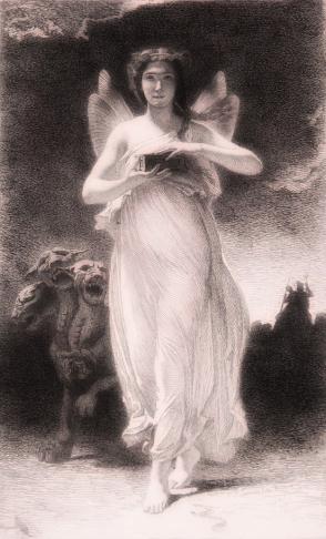 Paul-Alfred de Curzon, Psique en el Inframundo, ca1860