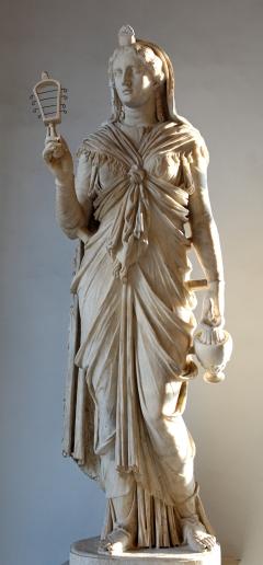 Isis procedente de la villa del emperador romano Adriano  en Tívoli. Actualmente en los museos capitolinos.