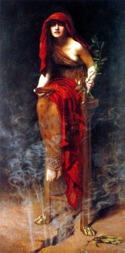 John Collier, Sacerdotisa de Delphos, 1891