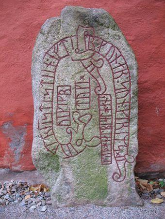 Estela rúnica en Växjö, Suecia