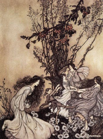 Dancing faeries, Arthur Rackham, sf