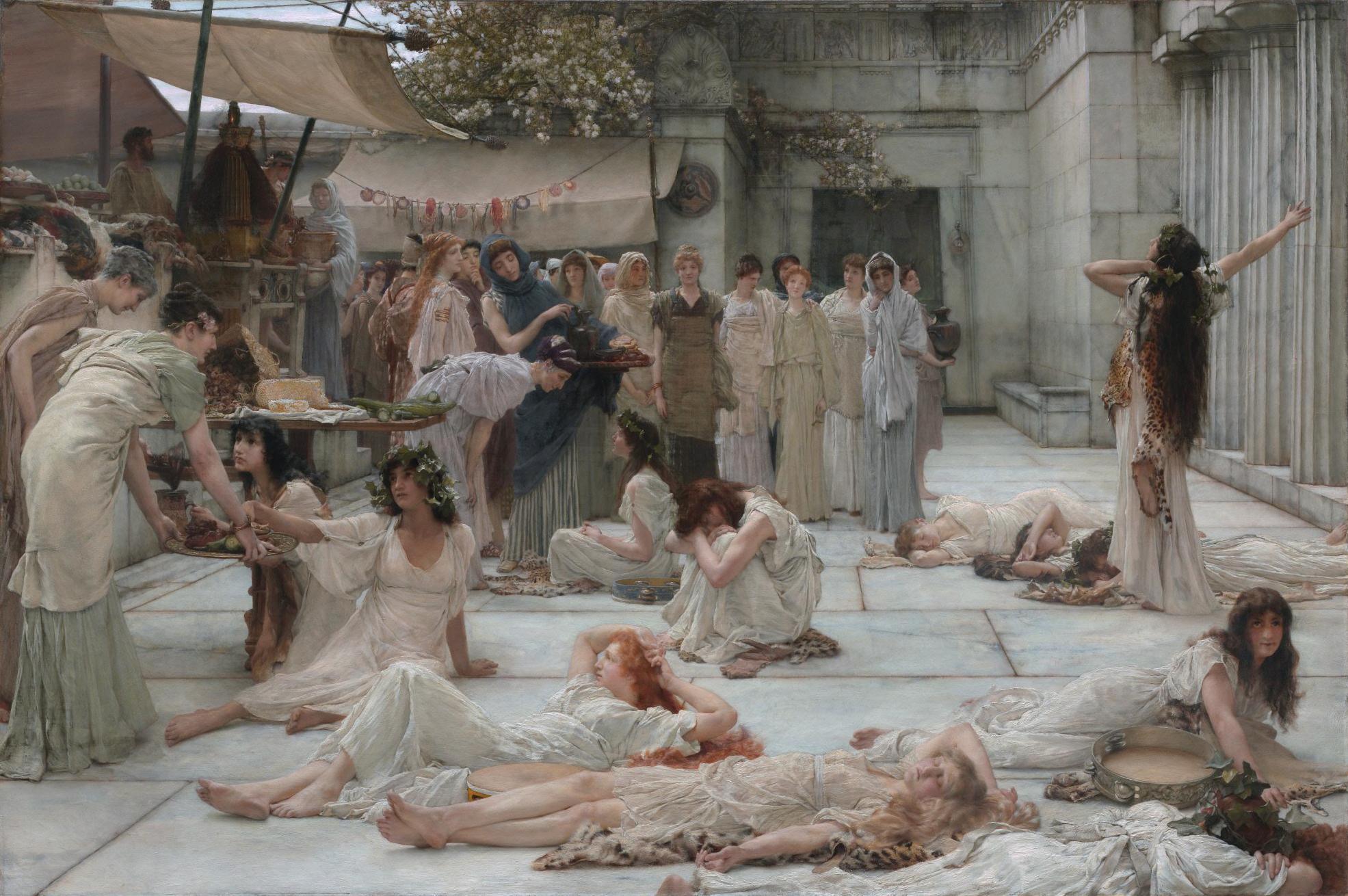 The women of Amphissa, by Lawrence Alma-Tadema