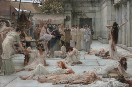 The women of Amphissa, by Lawrence Alma-Tadema