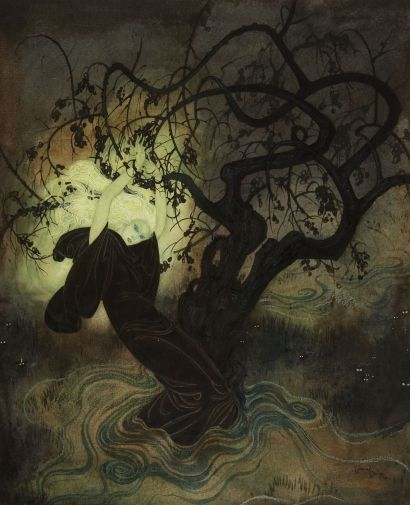 The Buried Moon, Edmund Dulac, 1916