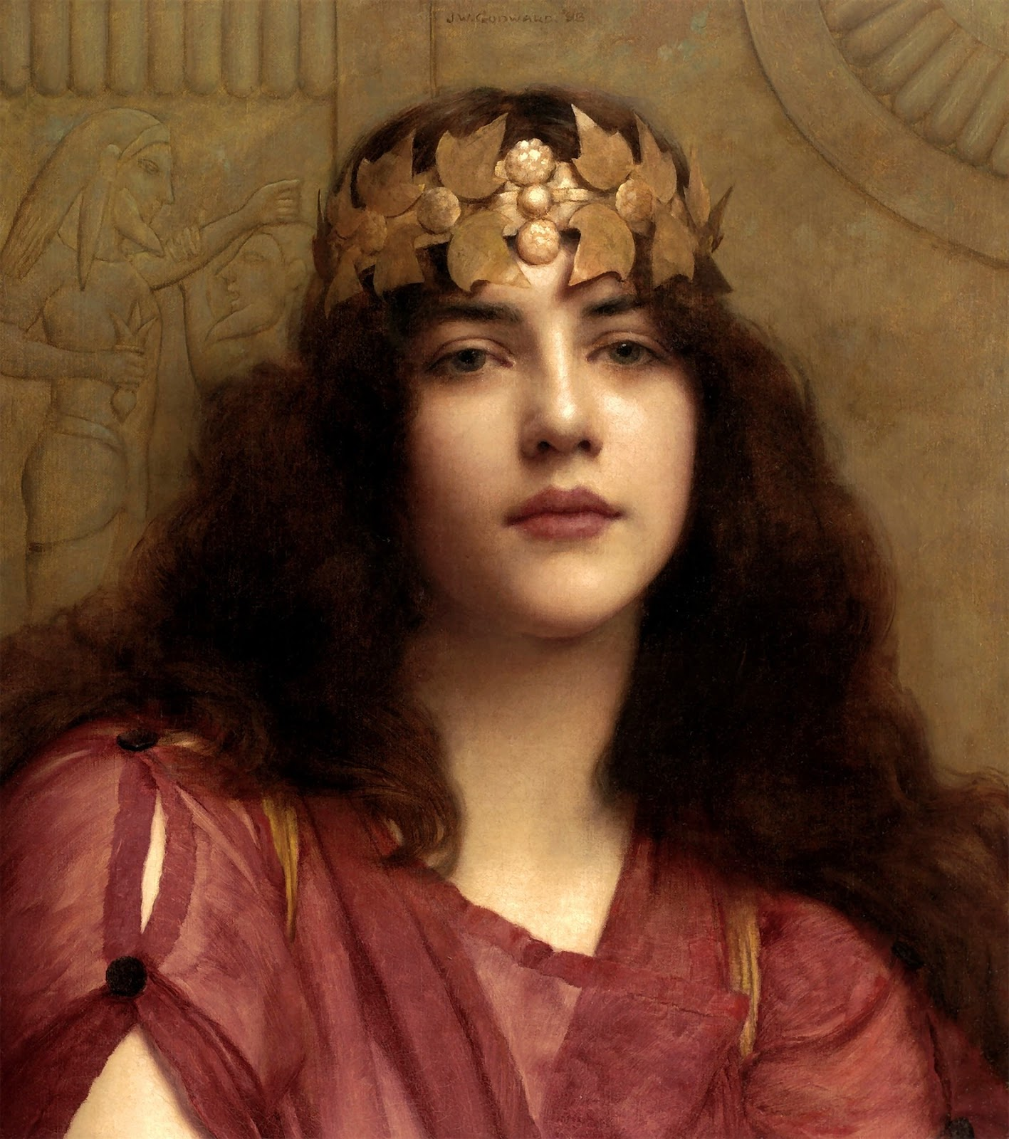 John William Godward, A Persian princess 1898